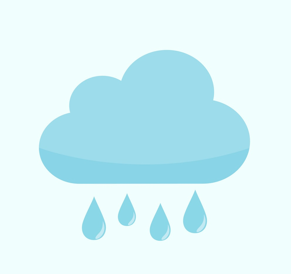 Rainy Cloud Weather Vector Illustration Graphic Design